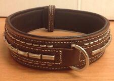 Cow Hide And Buffalo Leather Handmade Studded Dog Collar