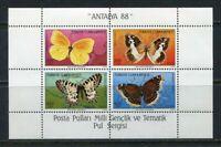 31146) Turkey 1988 MNH Butteflies S/S Scott #2424a