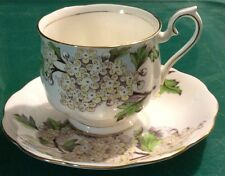 Royal Albert Bone China Flower of the Month Teacup & Saucer, Hawthorne