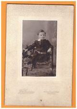 ROUEN (76) ENFANT NORMAND / sur MOBILIER Ancien Photographe J. FONTAINE
