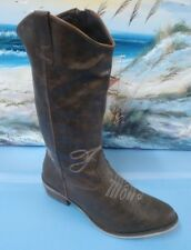 Vintage Acme Dingo Women's Brown Man Made  Boots size 10 style CN260