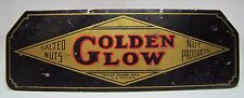 Antique GOLDEN GLOW Salted Nuts Nut Products Advertising Sign small tin peanuts