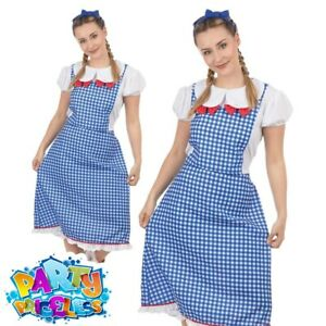 Adult Dorothy Kansas Lady Costume Wizard of Oz World Book Day Fancy Dress Outfit