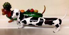 Hot Diggity Dog Weiner Dachshund Dog Figurines Westland Cow Bull Cucumber Veggie
