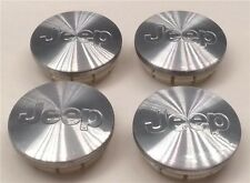 "(4) NEW Jeep Stainless Brushed Alum Center Caps FITS: 17""-18"" Wheels 52090402AA"