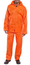 Orange Lightweight Waterproof Rain Suit Jacket & Trousers Nylon size small