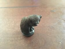 Franklin Mint Curio Cabinet Cat - Animalier Cat - Leaking His Paws 1986 Vintage