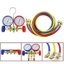 HVAC R12 R22 R502 Manifold Gauge Kit Refrigeration Charging 5ft Hose pap05