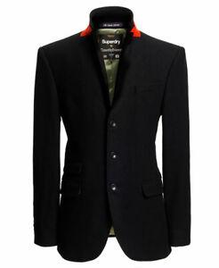"""Superdry Timothy Everest Town Jacket Black UK L 40"""" (102cm) RRP £194.99"""