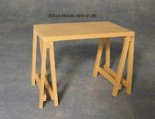 PLAIN LEGNO CAVALLETTO tabella, DOLL HOUSE miniatura 1.12 TH scala