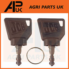 JCB 3cx Ignition Key Pair 2pc for Switch Starter JCB Parts Digger Plant Keys