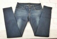 "Rampage Women Junior Sz 5 Skinny Jeans Blue Dark Wash Low Rise Stretch 35"" Long"