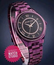 MICHAEL KORS MK3724 Lauryn Celestial Pavé Plum-Tone Watch GENUINE & WARRANTY