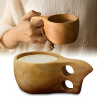 Handmade Wooden Cup Lapland Kuksa Tea Coffee Milk Drinking Mug For Birthday Gift