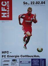 Programm 2003/04 HFC Hallescher FC - Energie Cottbus Am.