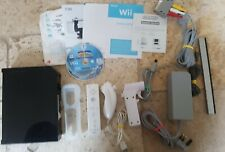 Black Nintendo Wii console bundle + Mario And Sonic At The Winter Olympics
