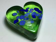 Signed Arte Vargas floral heart shaped paperweight made in Canada