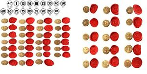 Wax Stamp Seal Sealing A-Z Alphabet & AGE Numbers. Coins only no handle/wax XWSC