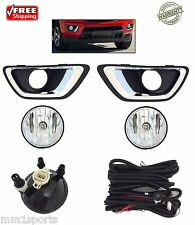 FOG LIGHTS KIT DRIVING LAMPS FOR 2015 2016 CHEVROLET COLORADO TRUCK 5202 BULB