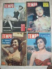 lotto con 4 copie del TEMPO Silvana PAMPANINI 1951 1952 e 1953