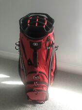 OGIO CART BAG - EXCELLENT - RED AND BLACK CIRRUS - 15 CLUB TOP WITH PUTTER WELL
