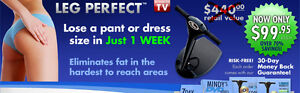 Leg Perfect Lower Body Thigh Toning Slimming Resistance Machine + Exercise DVD