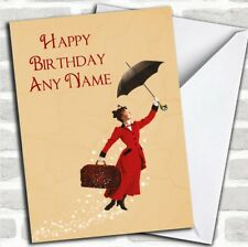 Mary Poppins  Children's Birthday Personalised Card