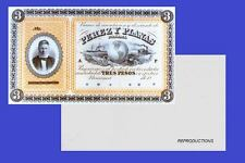 PANAMA 3 PESOS 1868. UNC - Reproduction