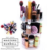 Rotating Makeup Organiser Storage 360 Degree Adjustable Acrylic, Cosmetics Stand