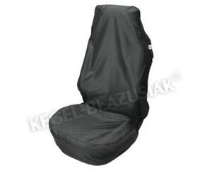 Universal PKW Kfz Sitzschoner Schonbezug Schutzbezug Autositz Schwarz Polyester