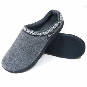 Men's Moccasin Slippers, Memory Foam Anti Skid Slip On House Shoes,7 Colours