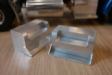 Pair Solid Aluminum Side Step Block Tamiya RC 1/14 King Grand Knight Hauler