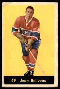 1960-61 PARKHURST JEAN BELIVEAU MONTREAL CANADIENS #49 POOR PEN ROUNDED CORNER