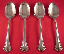 New listing Wallace Resplendence 4 Stainless Oval Soup Spoons New