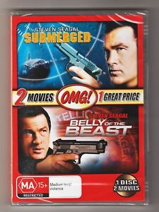 Submerged / Belly Of The Beast DVD (2 Movie Pack) - Brand New & Sealed