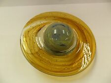 Hand Blown Glass Saturn - Glows In The Dark -