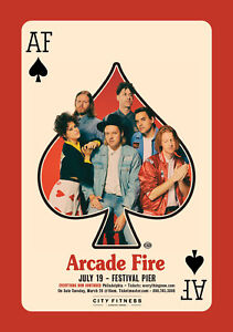 """ARCADE FIRE """"EVERYTHING NOW CONTINUED"""" 2018 PHILADELPHIA CONCERT TOUR POSTER"""