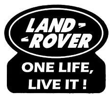 LR Land Rover One Life Live It 01 Vinyl Car Decal Sticker 16cm x 14cm