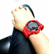 Vintage G-Shock GA200SH Devil Red Matte Carbon Kevlar keeper Duel Digital-Analog