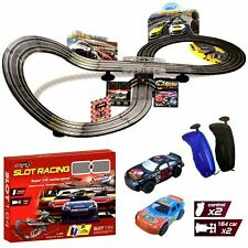 Electric Remote Control Slot Car Racing Track Set Childrens Toy Race Game JJ89