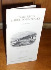 Signed First Edition ~ Lyme Regis Three Town Walks by John Fowles, 1983, Scarce