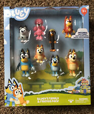 Bluey's Family & Friends 8 Figure Pack MUFFIN COCO SNICKERS RUSTY Bluey Disney