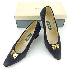 BALLY Pumps Gold Plated Ladies Authentic Used L1461