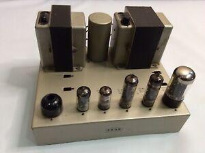 Stunning Vintage Leak TL12 plus Valve Amplifier With Valves Incl Mullard GZ34