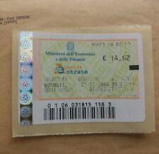 Marca Da Bollo 221 12 2006 da 14,62 euro Ancora utilizzabile, Quella in foto