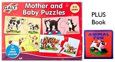 Mother and Baby Animals Puzzles PLUS Animal Fun Book Self Correcting Age 3+