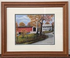 Risser Mill and Bridge, PA Oil Painting Print