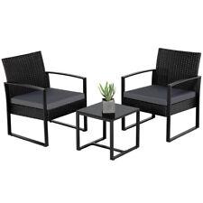 Gartenmöbelset Polyrattan Balkonset Sitzgruppe Sitzgarnitur Lounge Set anthrazit