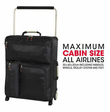 IT World's Lightest Cabin 2 Wheel Polyester Cabin Case Suitcase - Charcoal UK