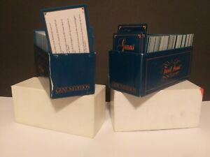 TRIVIAL PURSUIT MASTER GAME GENUS EDITION CARDS ONLY 2 BOXES PRE OWNED 1981